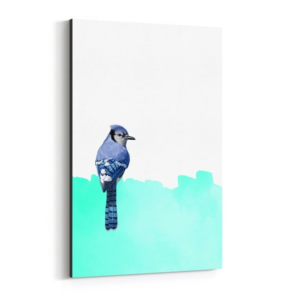 Noir Gallery Bird Animal Collage Colorful Canvas Wall Art Print
