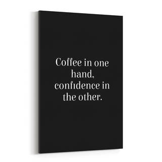 Noir Gallery Coffee Inspirational Typography Canvas Wall Art Print