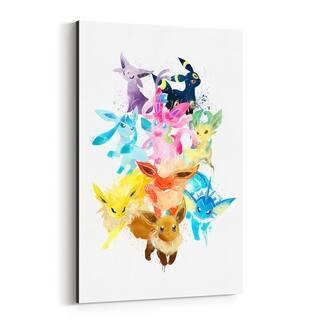 Noir Gallery Eevee Pokemon Painting Canvas Wall Art Print