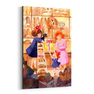 Noir Gallery Kiki's Delivery Service Witch Movie Canvas Wall Art Print