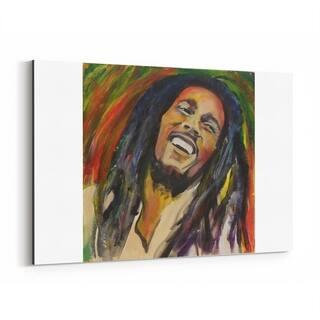 Noir Gallery Bob Marley Figurative Portrait Canvas Wall Art Print