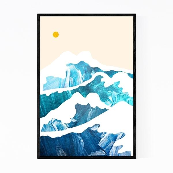 Noir Gallery Beach Waves Nature Abstract Framed Art Print