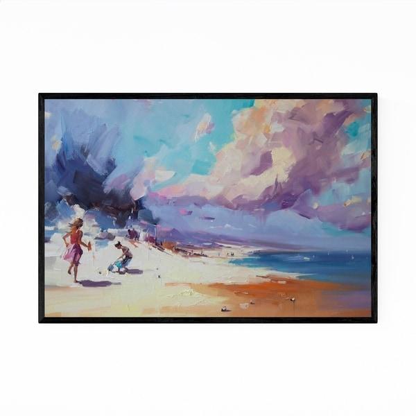 Noir Gallery Beach Coastal Nature Oil Painting Framed Art Print