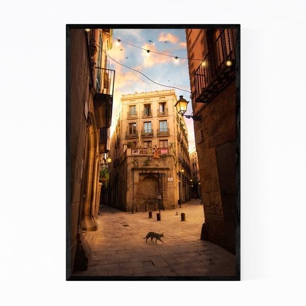 Noir Gallery Barcelona Spain Architecture Photo Framed Art Print