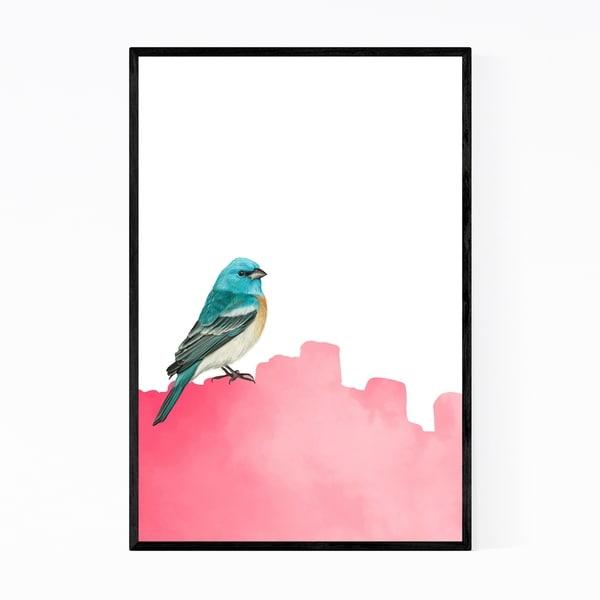 Noir Gallery Bird Animal Collage Colorful Framed Art Print