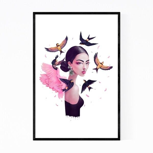 Noir Gallery Bohemian Girl Figurative Portrait Framed Art Print
