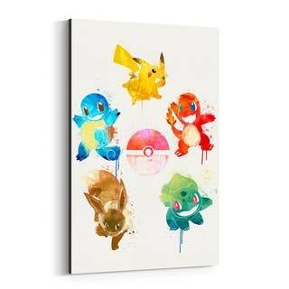 Noir Gallery Pokemon Elements Painting Canvas Wall Art Print