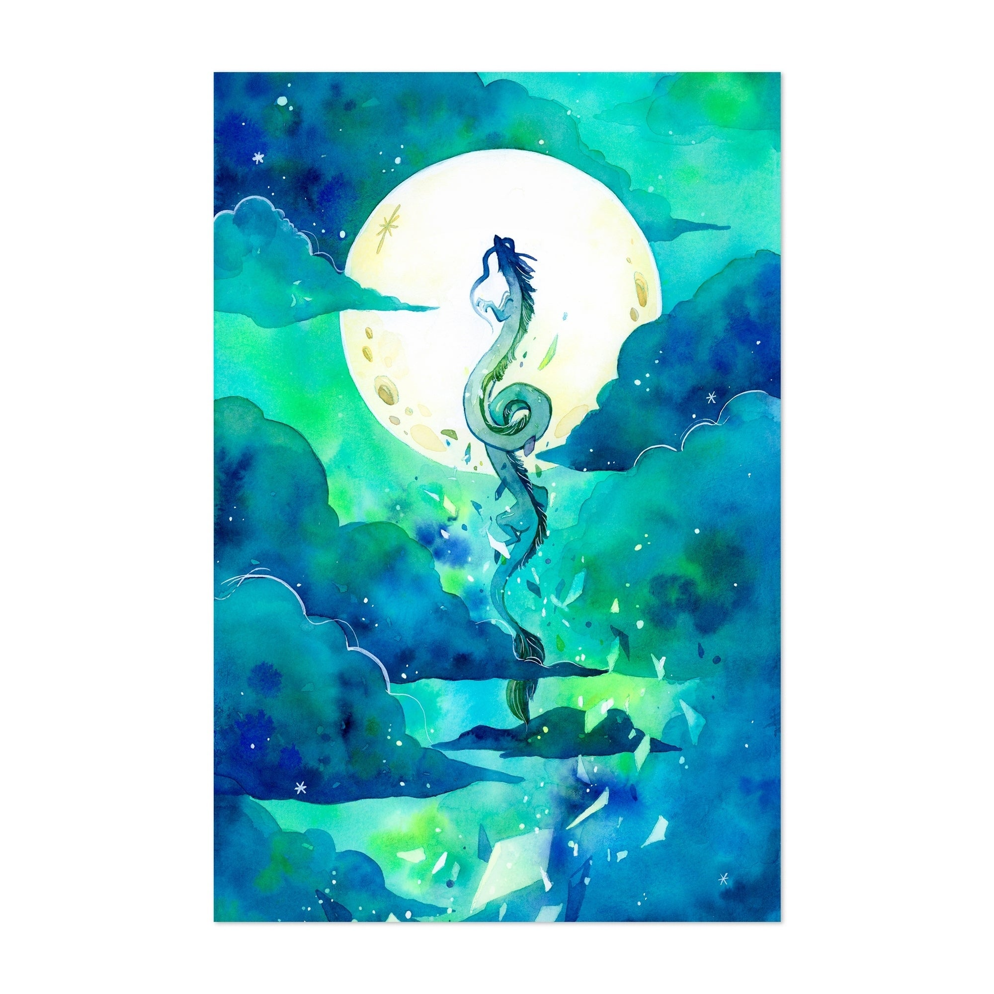 Shop Noir Gallery Flying Dragon Haku Spirited Away Unframed Art Print Poster Overstock 29361987