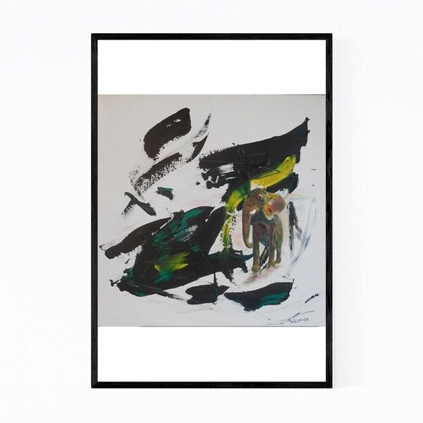 Noir Gallery Abstract Elephant Animal Framed Art Print