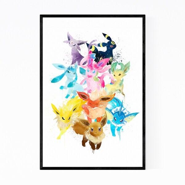 Noir Gallery Eevee Pokemon Painting Framed Art Print