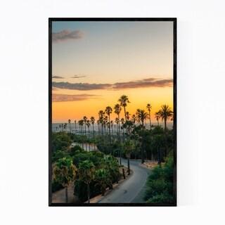 Noir Gallery Elysian Park Palm Trees Los Angeles Framed Art Print