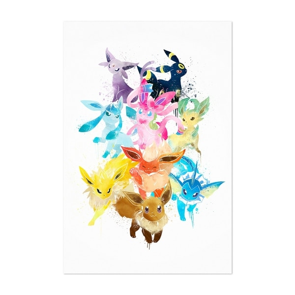 Noir Gallery Eevee Pokemon Painting Unframed Art Print/Poster