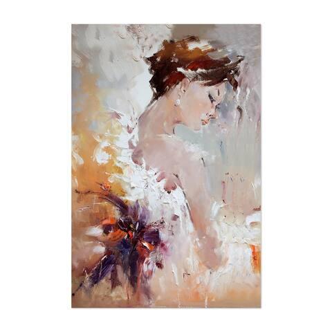 Noir Gallery Feminine Figurative Oil Painting Unframed Art Print/Poster