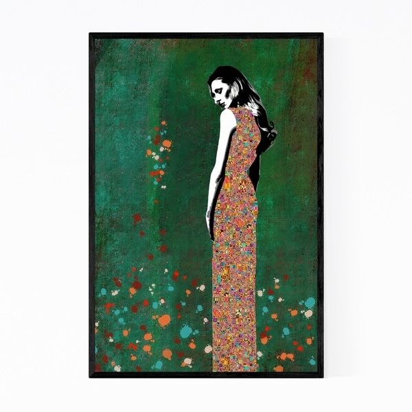 Noir Gallery Feminine Figurative Mosaic Portrait Framed Art Print