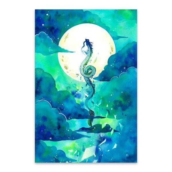 Shop Noir Gallery Flying Dragon Haku Spirited Away Metal Wall Art Print Overstock 29362455