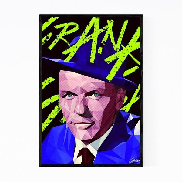 Noir Gallery Frank Sinatra Portrait Illustration Framed Art Print