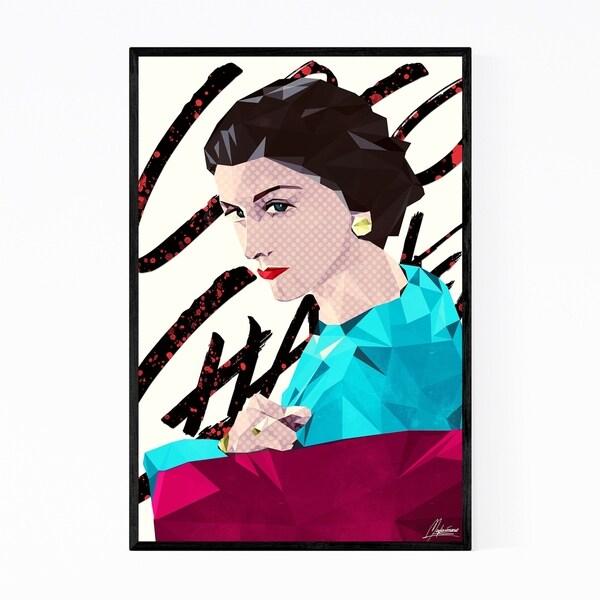 Noir Gallery Coco Chanel Geometric Portrait Framed Art Print