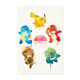 Noir Gallery Pokemon Elements Painting Unframed Art Print/Poster