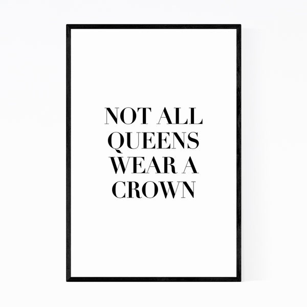 Noir Gallery Feminism Typography Quote Framed Art Print