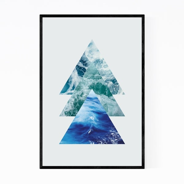 Noir Gallery Ocean Geometric Triangle Nature Framed Art Print