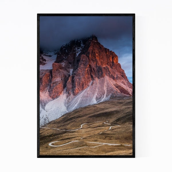 Noir Gallery Dolomites Mountains Italy Nature Framed Art Print