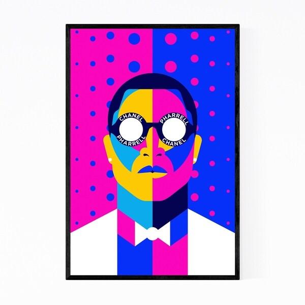 Noir Gallery Pharrell Williams Portrait Framed Art Print