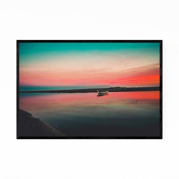 Noir Gallery Boat Sunset Portugal Landscape Framed Art Print