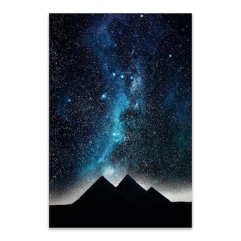 Noir Gallery Egyptian Pyramid Night Sky Astronomy Metal Wall Art Print