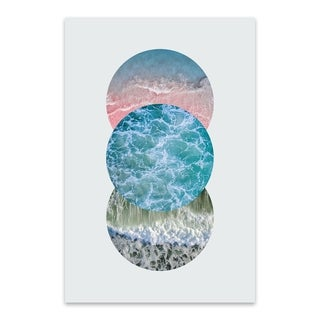 Noir Gallery Ocean Geometric Circle Nature Metal Wall Art Print