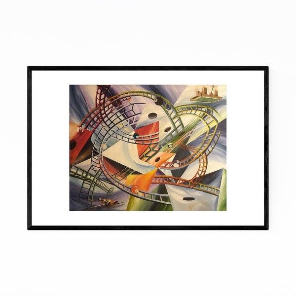 Noir Gallery Billiards Pool Rollercoaster Framed Art Print