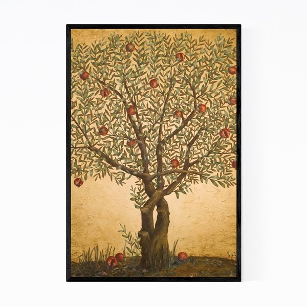 Noir Gallery Pomegranate Tree Oil Painting Framed Art Print