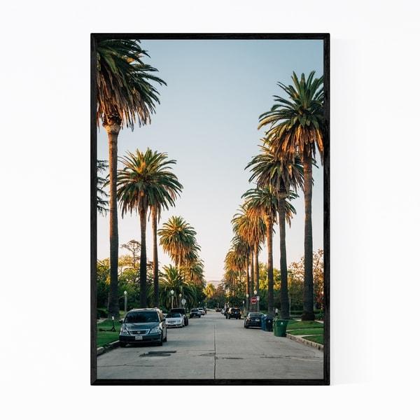 Noir Gallery Los Angeles Palm Trees California Framed Art Print