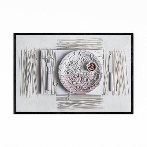 Noir Gallery Spaghetti Food Still Life Photo Framed Art Print