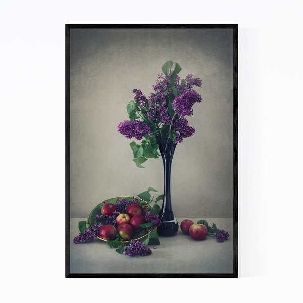 Noir Gallery Lilac Floral Botanical Still Life Framed Art Print
