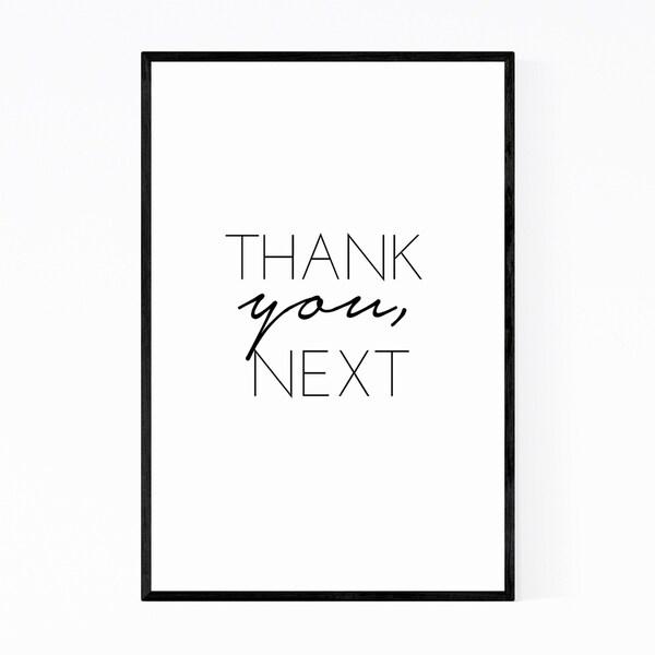 Noir Gallery Gratitude Inspirational Typography Framed Art Print