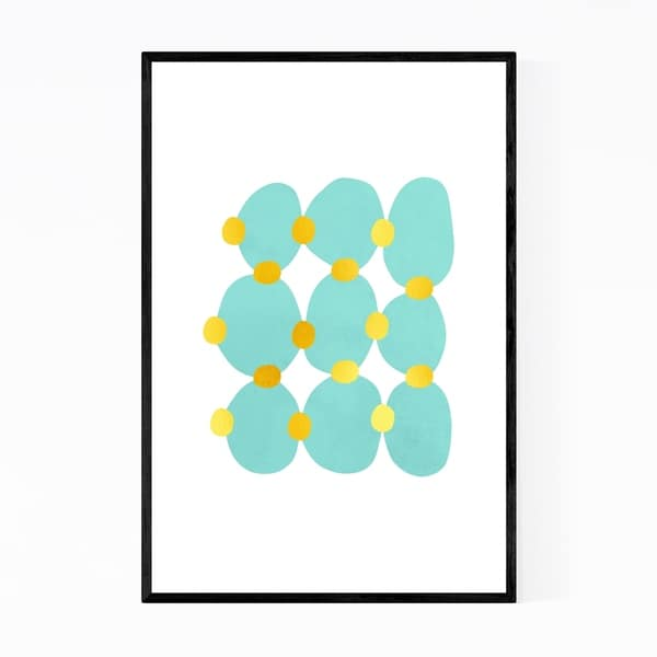 Noir Gallery Watercolor Abstract Shapes Framed Art Print
