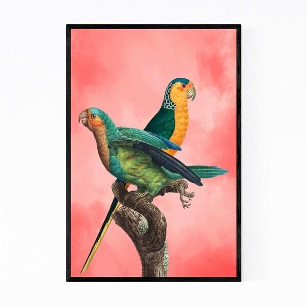 Noir Gallery Birds Animal Nature Pink Sky Framed Art Print