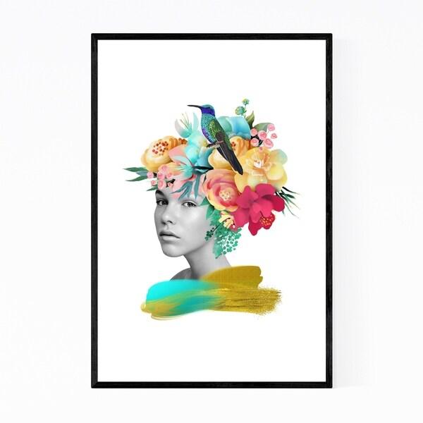 Noir Gallery Feminine Floral Botanical Portrait Framed Art Print