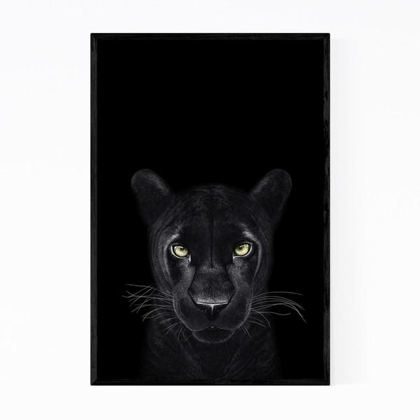 Noir Gallery Panther Animal Illustration Framed Art Print