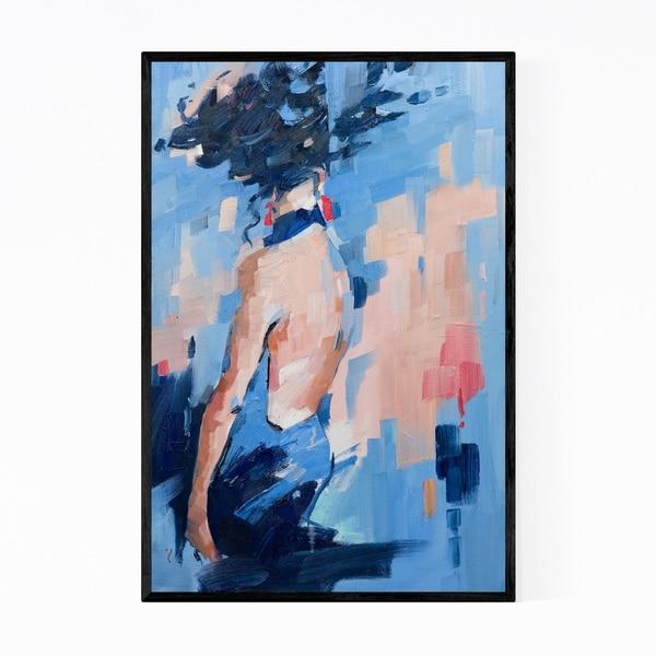 Noir Gallery Abstract Blue Oil Painting Framed Art Print