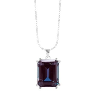 """Link to Sterling Silver with Color Changing Alexandrite Solitaire Pendant with 18"""" Chain Similar Items in Necklaces"""