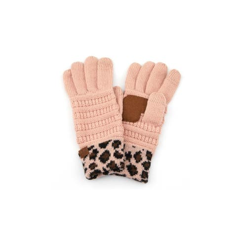 CC Animal Print Gloves Solid Color CC Gloves