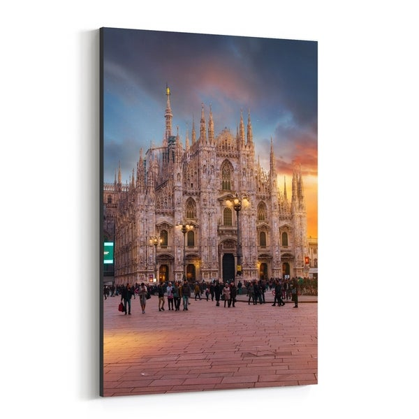 Noir Gallery Milan Italy Duomo Architecture Canvas Wall Art Print