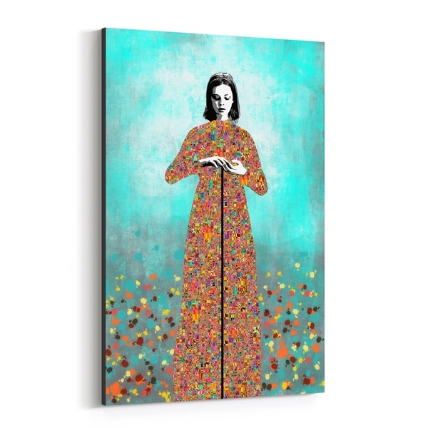 Noir Gallery Feminine Figurative Mosaic Portrait Canvas Wall Art Print