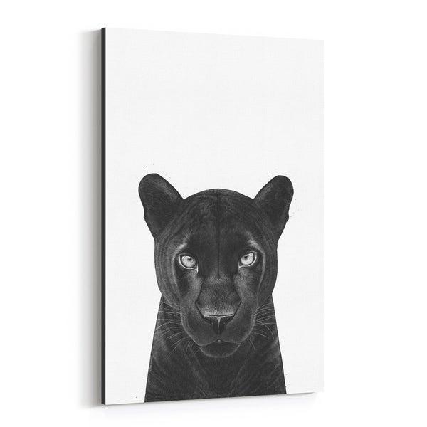 Noir Gallery Panther Animal Illustration Canvas Wall Art Print