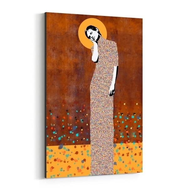 Noir Gallery Feminine Figurative Mosaic Portrait Canvas Wall Art Print