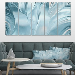 Designart 'Blue Modern Water III' Modern Transitional Gallery-wrapped Canvas