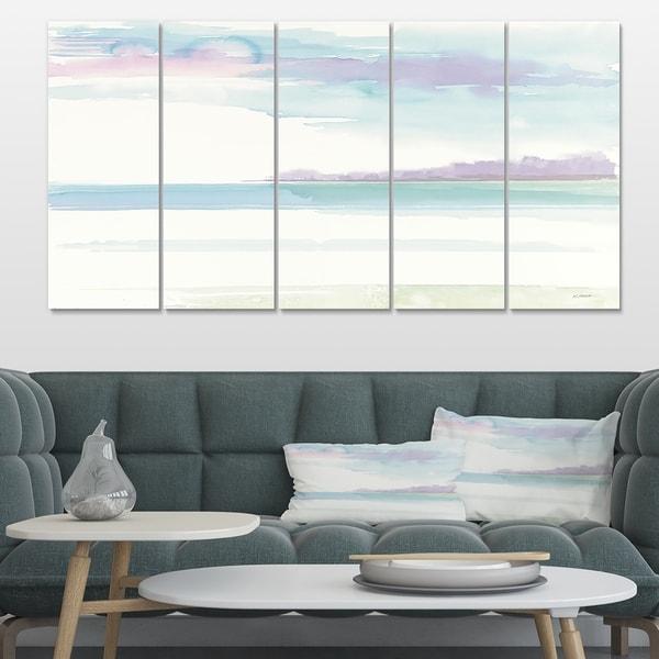 Designart 'Horizon' Coastal Canvas Art