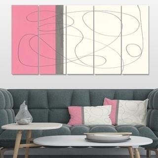Designart 'GeometricNeapolitan I' Shabby Chic Canvas Art
