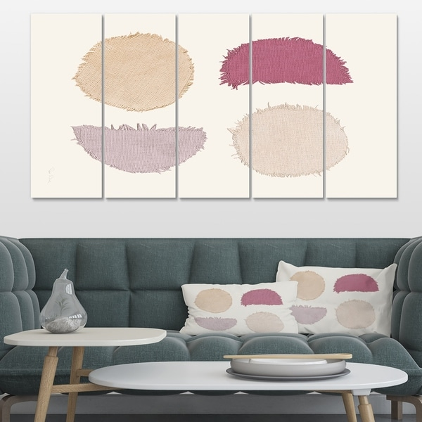 Designart 'Unique Beige Circle Designs II' Modern Transitional Canvas Artwork